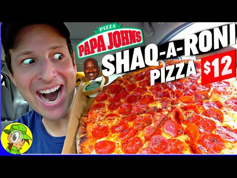 Papa John's® SHAQ-A-RONI PIZZA Review 🏀🍕 | Peep THIS Out! 🕵️‍♂️