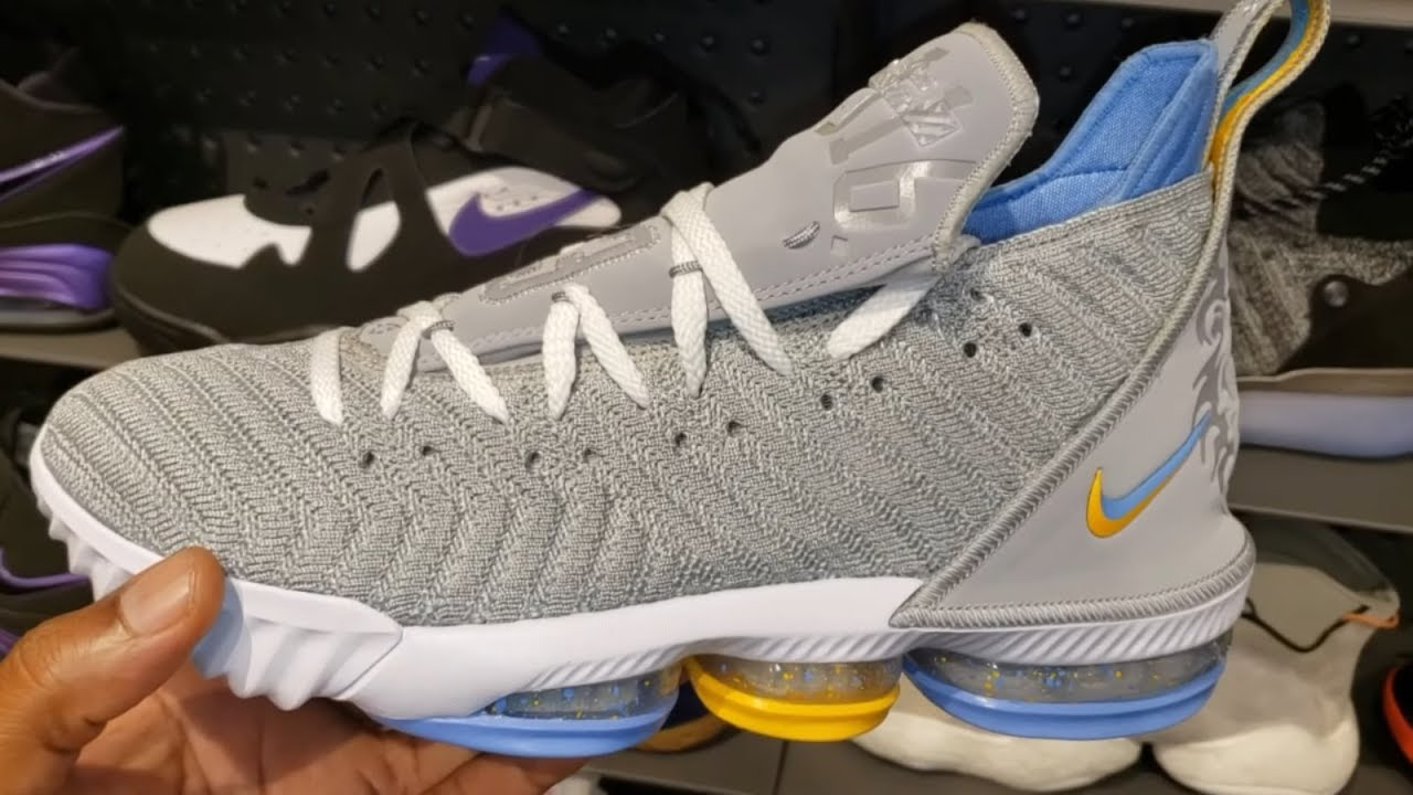 """cheaper a987f 10048 FIRST LOOK: LEBRON JAMES' NIKE LEBRON 16 '""""MINNEAPOLIS LAKERS"""" SNEAKER (IN  STORE REVIEW)"""