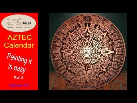 Make an Aztec Calendar Part 2 - CNCnutz Episode 150