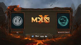 Invictus Gaming vs Beastcoast, MDL Chengdu Major, bo3, game 2 [Mila]