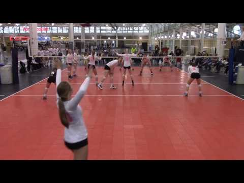 Iowa Regional Volleyball Tourny CIA 15 Silver vs CIA 15 Black (Set 2)