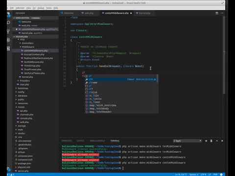 Cara Menggunakan Middleware Laravel 5