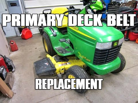 HOW TO Primary Deck Belt Replacement On John Deere Lawn Tractor