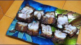 Roasted Crispy Pork Belly - Pinoy Style Pork - Filipino Food - Tagalog videos - Crispy Pork