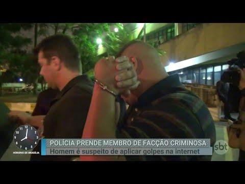Preso membro de facção criminosa suspeito de aplicar golpes na web | Primeiro Impacto (14/08/18)