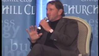 Larry  Ellison & Ed Zander at the Churchill Club 9.21.09