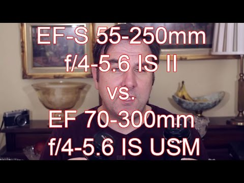 Canon EF-S 55-250mm F/4-5.6 IS II vs EF 70-300mm F/4-5.6 IS USM Telephoto Zoom Lens Review