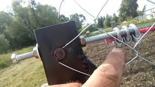як зробити ворота з сітки рабиці своїми руками