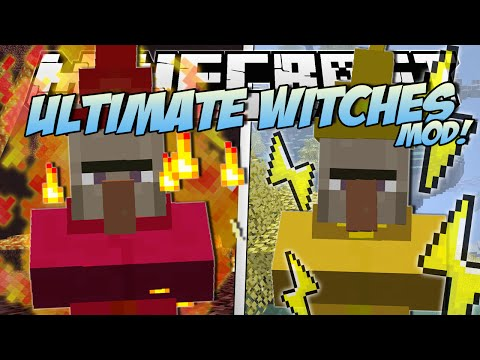 Minecraft | ULTIMATE WITCHES MOD! (Fire Meteors, Lightning Golems & More!) | Mod Showcase