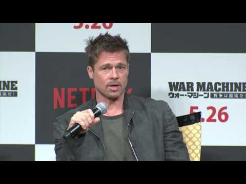 Brad Pitt on his absurd and serious 'War Machine'