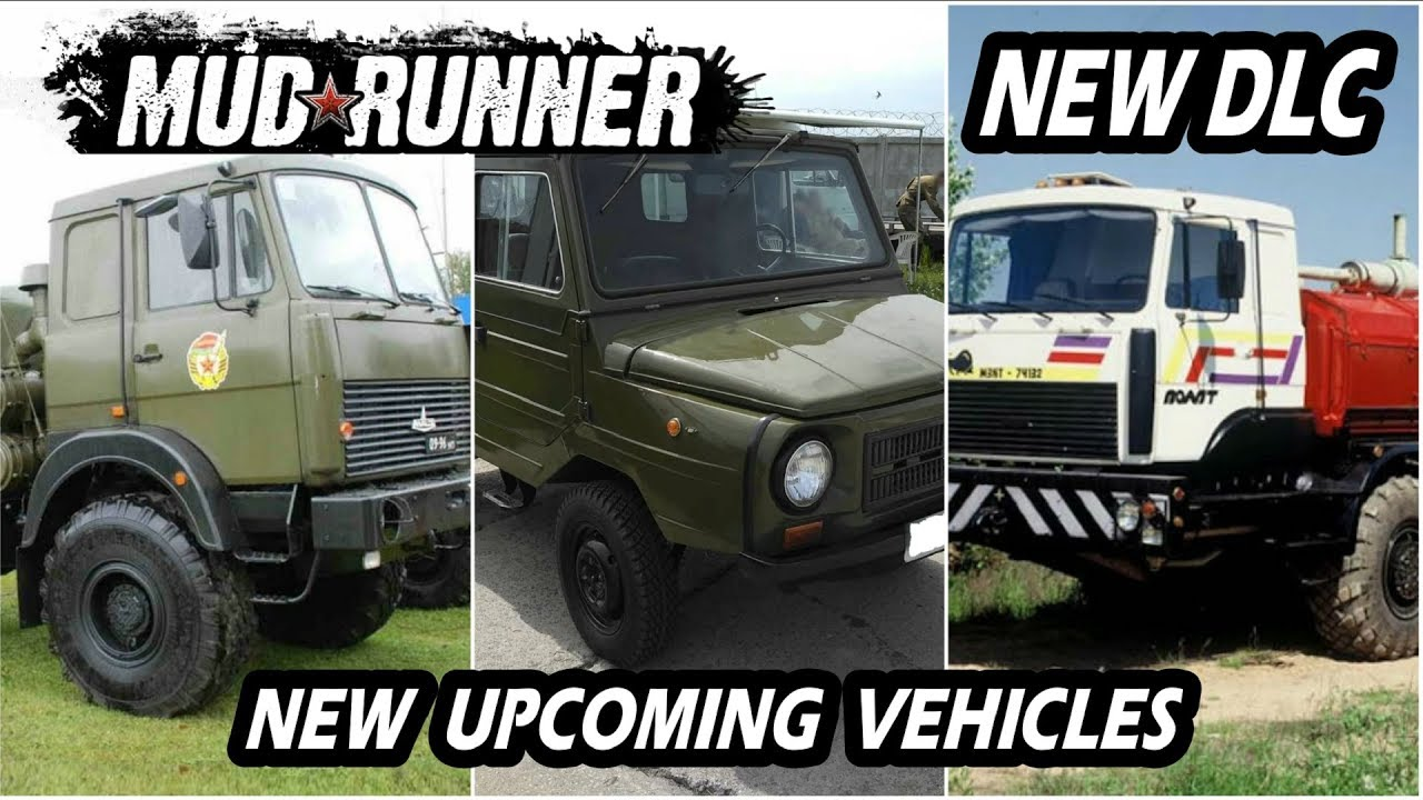 Spinitires Mudrunner New DLC Upcoming new Vehicles | Photos + mod Reference