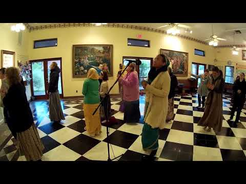Bhaktin Christiana Chants Hare Krishna in Alachua Guru Puja