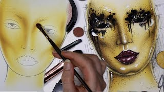 Alien Queen Bee Face Chart Time Lapse Drawing