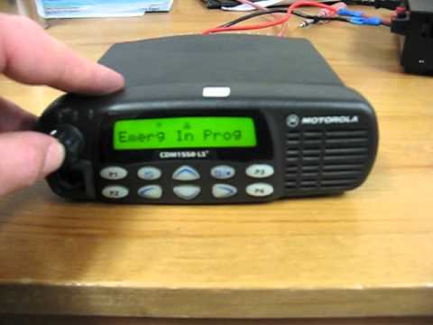Motorola Cdm1550 Ls Two Way Radio Youtube