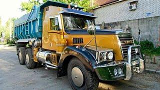 """Мужик купил старенький """"КрАЗ-256"""" и улучшил его так что и не узнать!"""