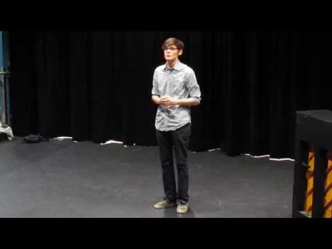 Audition monologue example - Preformed by Jacob Sloniker