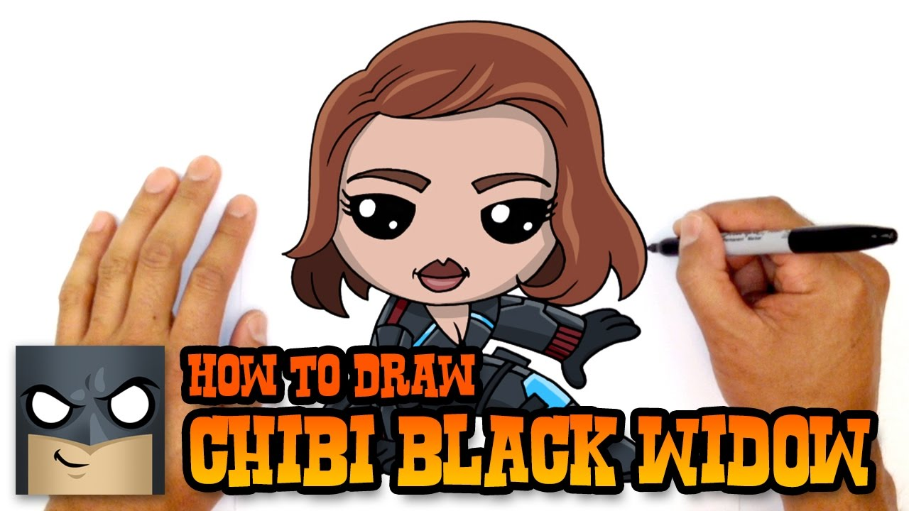 How To Draw Black Widow The Avengers