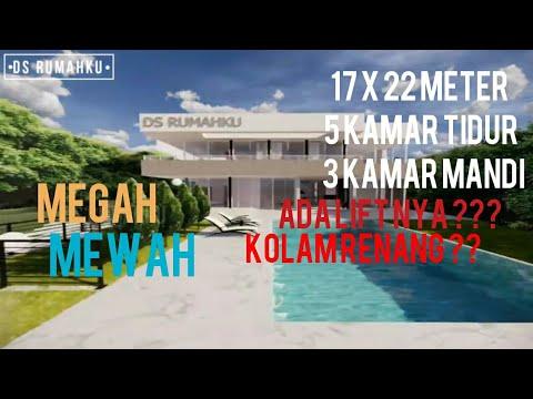 desain rumah mewah 2 lantai dengan 5 kamar tidur minimalis