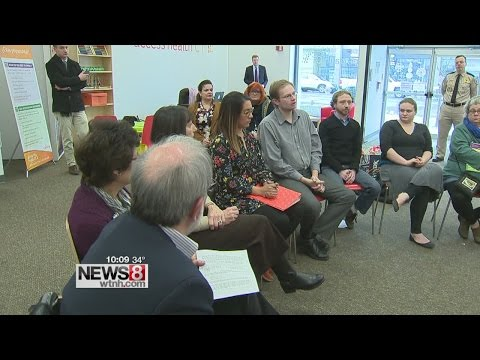 Senator Chris Murphy speaks with Connecticut residents about Affordable Care Act