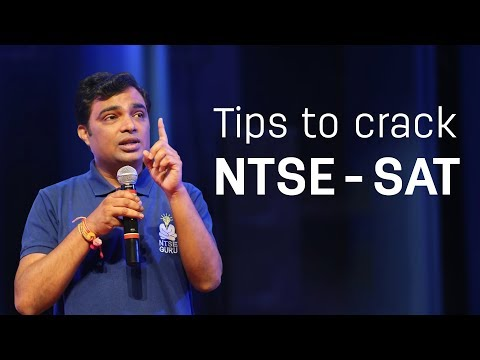 Tips to Crack NTSE - SAT by Prof. Vipin Joshi, known for RECORD NTSE selections in India