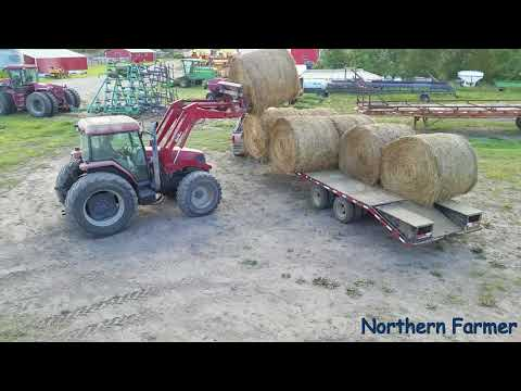 Hauling Round Bales..Testing The New Bale Fork