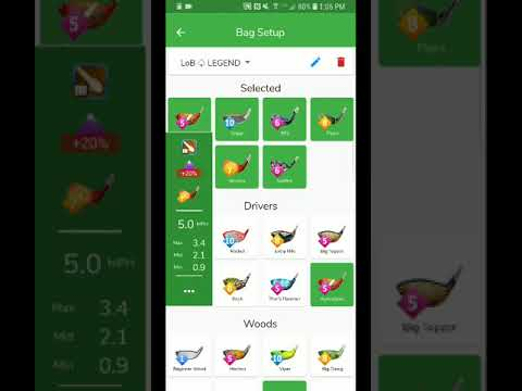 Golf Clash Notebook Android App How to Use every button and function HELP  guide Part 1