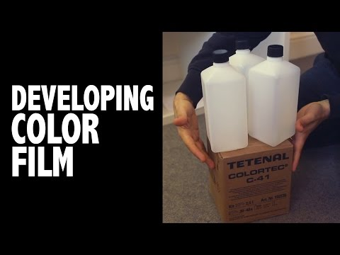 How to develop color film: Tetenal Colortec C-41