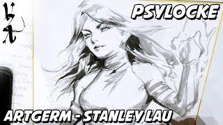 Artgerm Stanley Lau drawing Psylocke