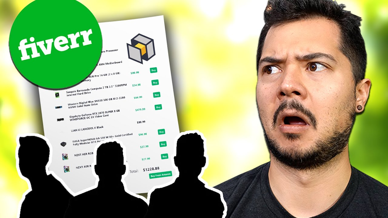 I paid people on Fiverr to make my PC parts list