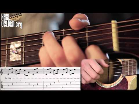 'ANASTASIA' by SLASH – Acoustic Introduction Lesson – With GUITAR TABS (Karl Golden)