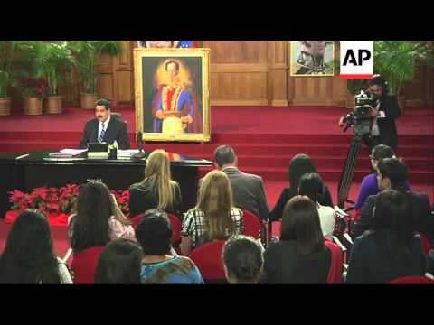 Venezuelan president blames opposition for deep recession