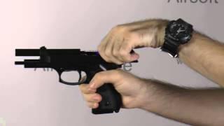 Обзор пистолета (KJW) M9 Black металл