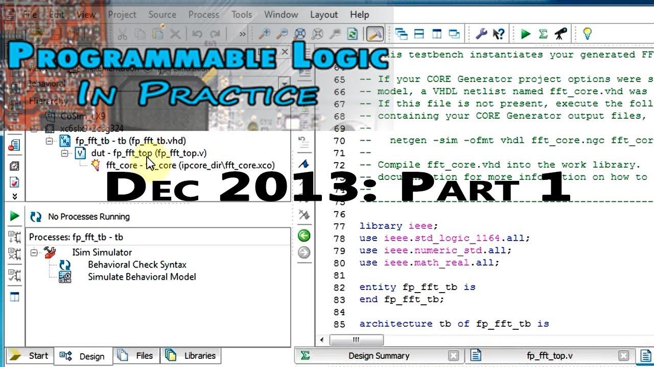 PLIP DEC2013: Hardware Co-Simulation (Co-Sim) FFT Example