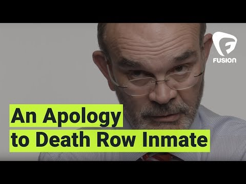Watch a former prosecutor apologize for sending an innocent man to death row