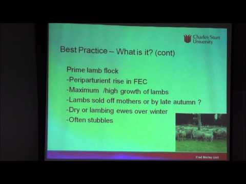 2014 Sheep Forum Bruce Allworth: Worm control in prime lmab flocks - lifting the limits project