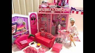 Barbie HOUSE! Barbie Bedroom Morning Routine!