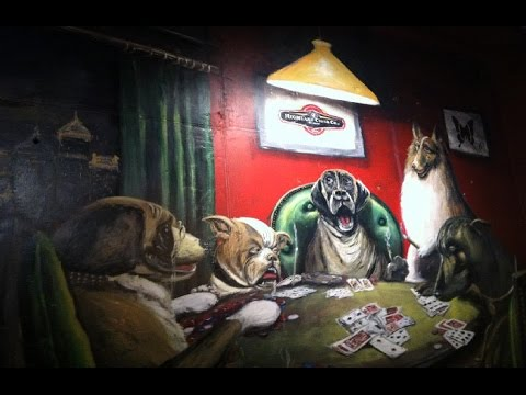Animal poker mural pai gow poker table layout