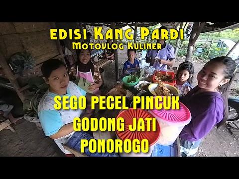 Sarapan Pecel Pincuk Godong Jati terenak! | Motovlog Ponorogo | Edisi Kuliner