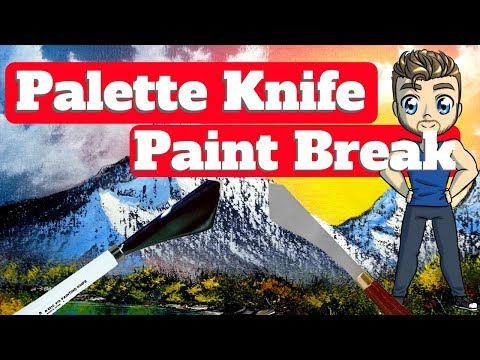 Palette Knife Paint Breaks for Beginner Mountains