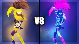 Prestige KDA Akali vs KDA Akali Skins Comparison (League of Legends)