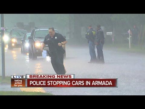 Police, FBI stopping vehicles in Armada