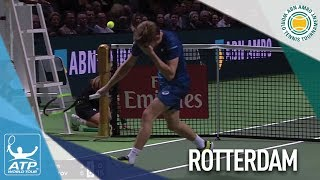 David Goffin Injures Eye In Freak Accident Rotterdam 2018