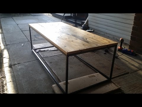 RusticIndustrial coffee table Scriv YouTube
