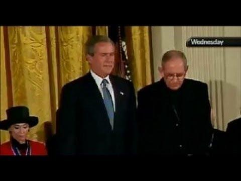 Pope John Paul II Awarded the Presidential Medal of Freedom