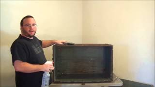 How To Restore An Antique Trunk - Part 2 - Www.antiquetrunksandchests.com