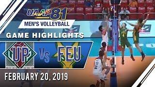 UAAP 81 MV: UP vs. FEU | Game Highlights | February 20, 2019