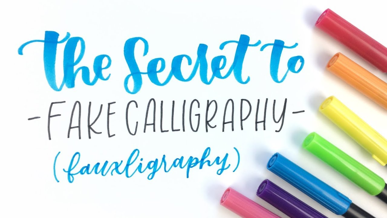 The Secret to Fake Calligraphy   Hand Lettering for Beginners