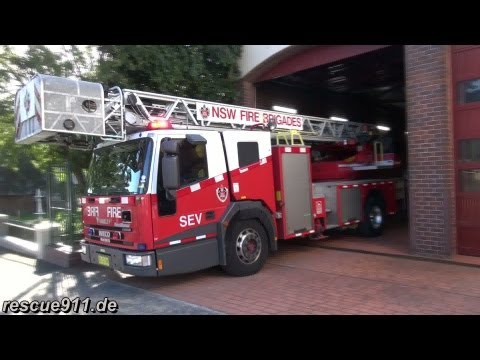 Ladder truck Fire & Rescue NSW Glebe Fire station