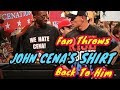 Fan Throws John Cena's Shirt Back To Him by TAPOUT CLIPS