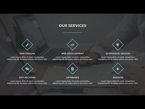 Responsive Services Section Using Only HTML & CSS
